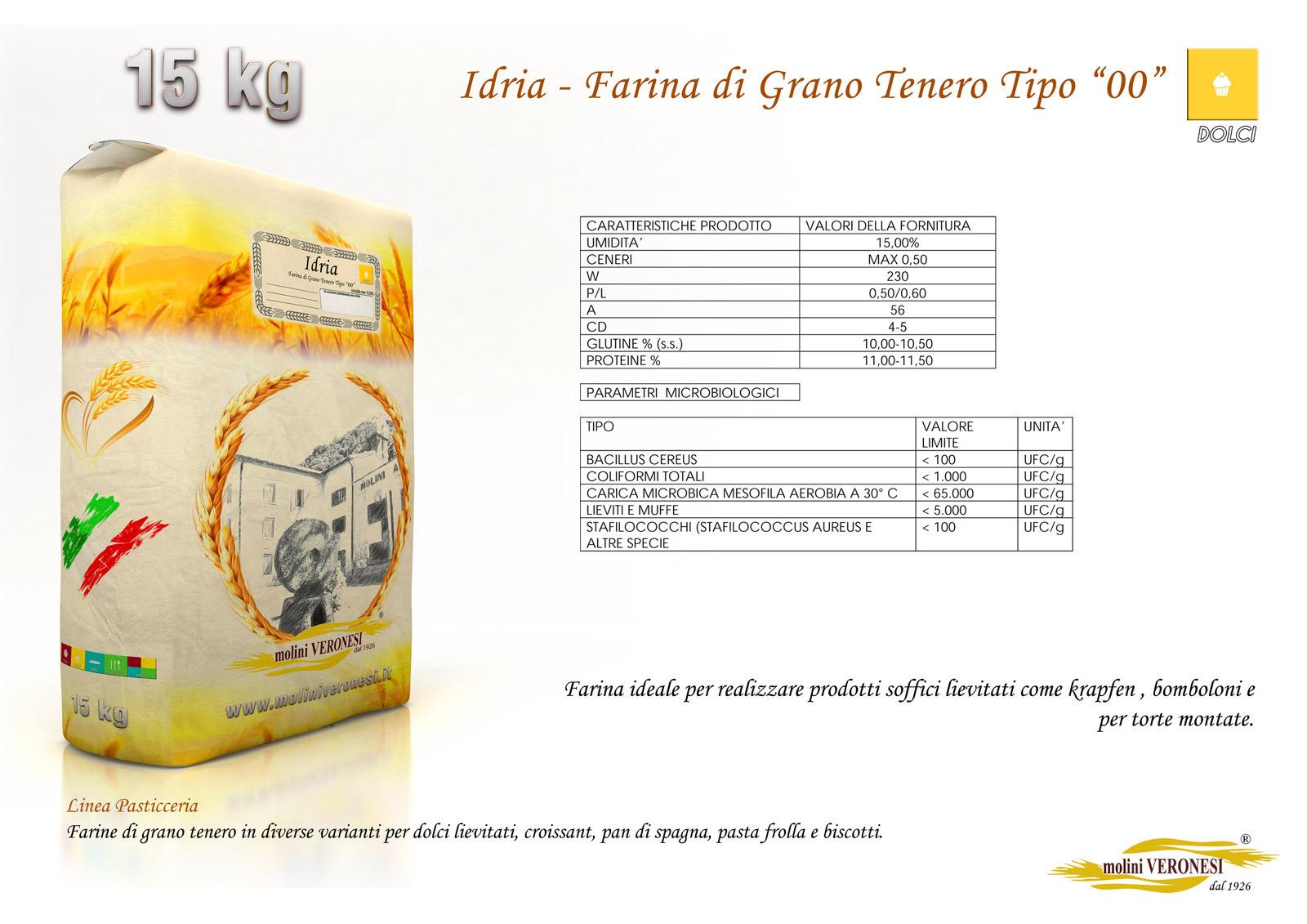 Idria - Farina di Grano Tenero Tipo 00