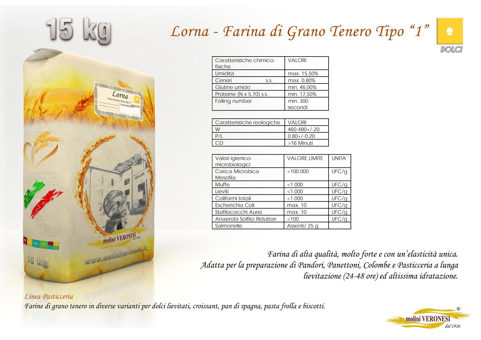 Lorna - Farina di Grano Tenero Tipo 0 M