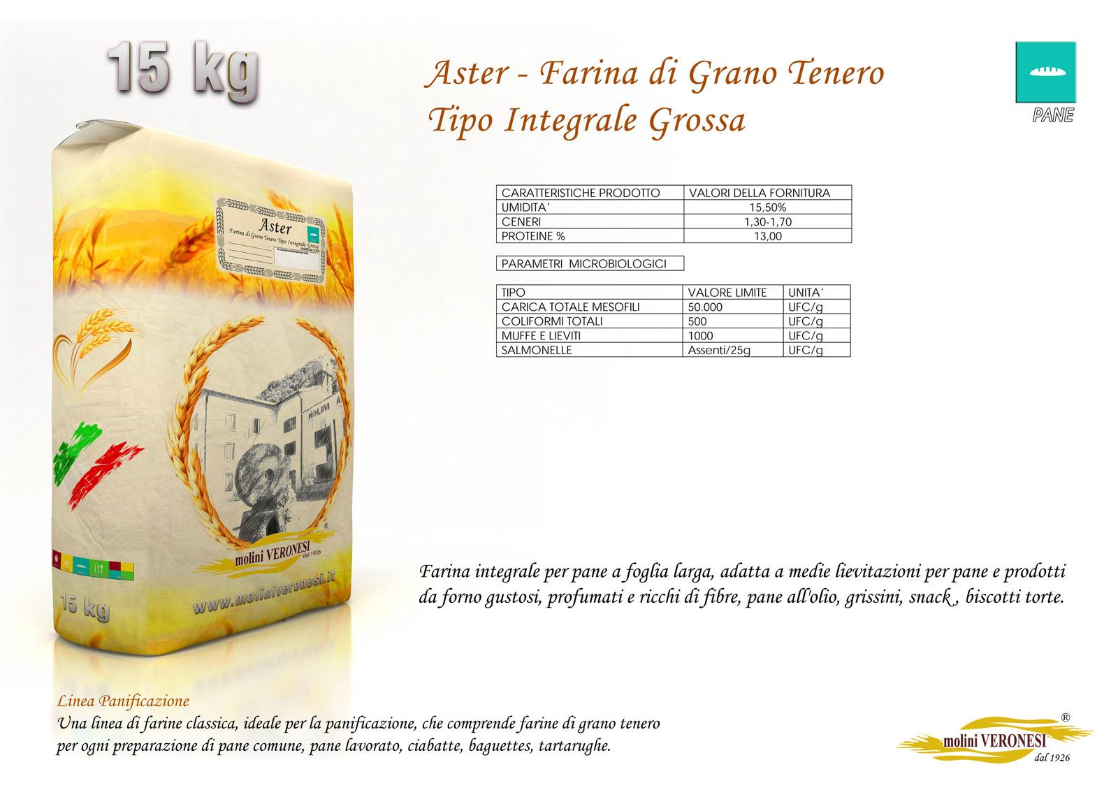Aster - Farina di Grano Tenero - Tipo Integrale Grossa