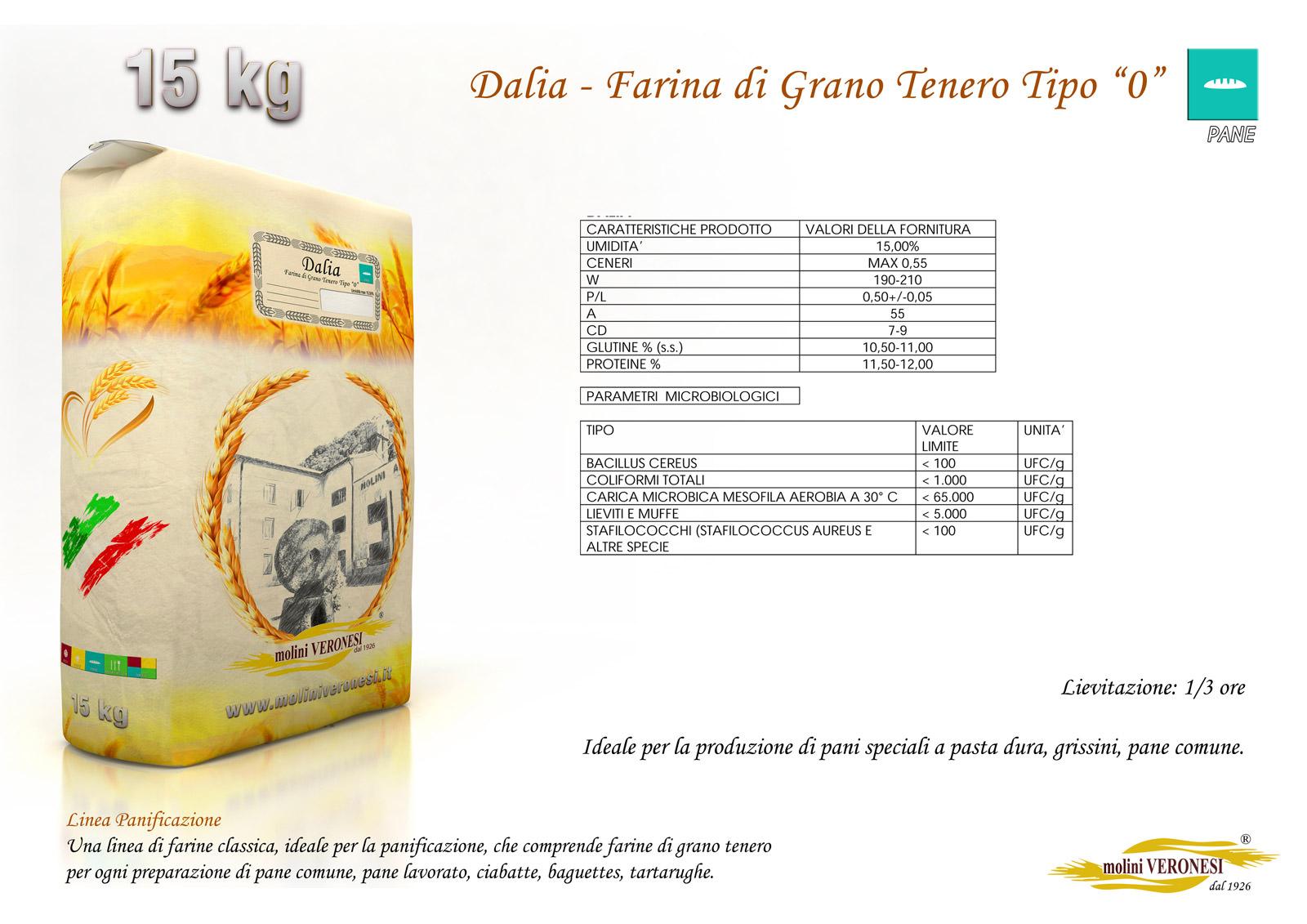 Dalia - Farina di Grano Tenero Tipo 0