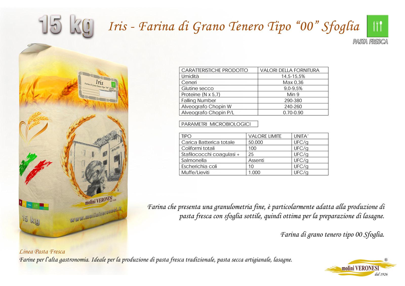 Iris - Farina di Grano Tenero Tipo 00 - Sfoglia