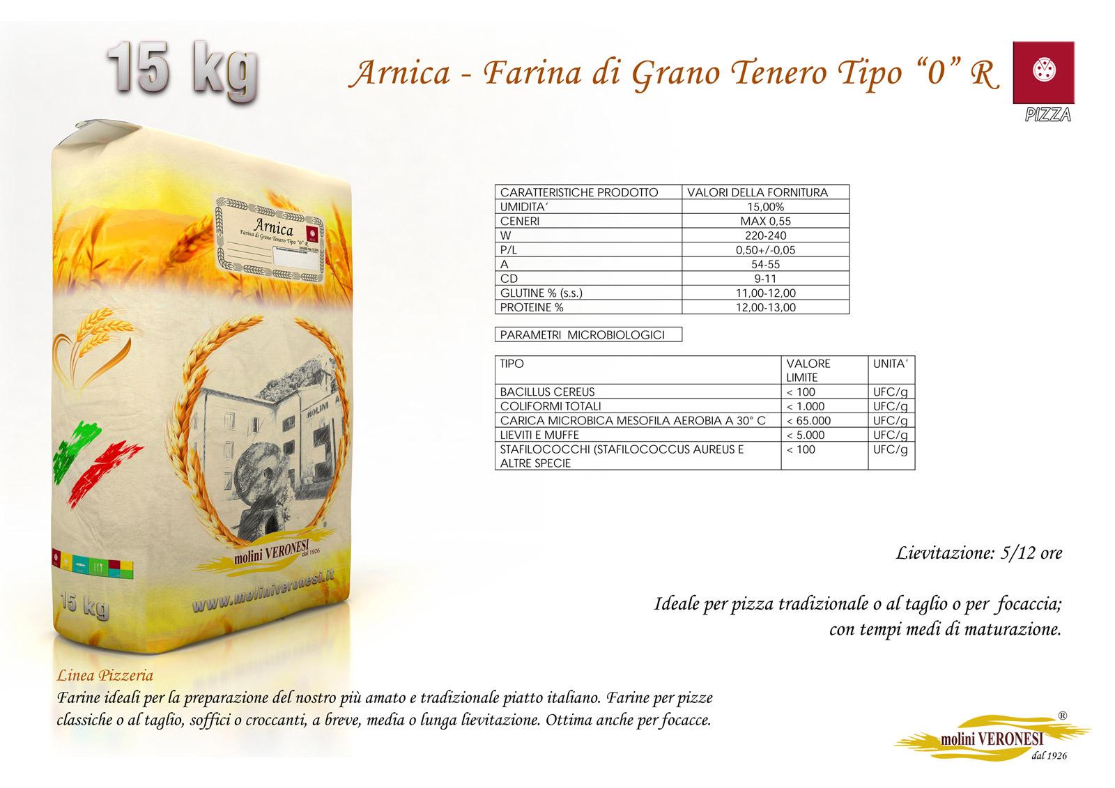 Arnica - Farina di Grano Tenero Tipo 0 R